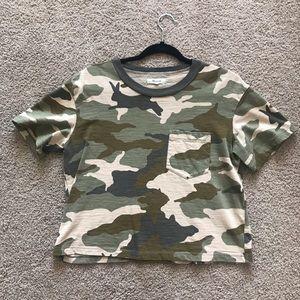 Madewell Camo Crop TShirt